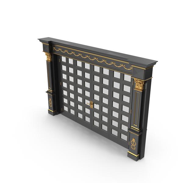 Luxury  Glass Door black PNG & PSD Images
