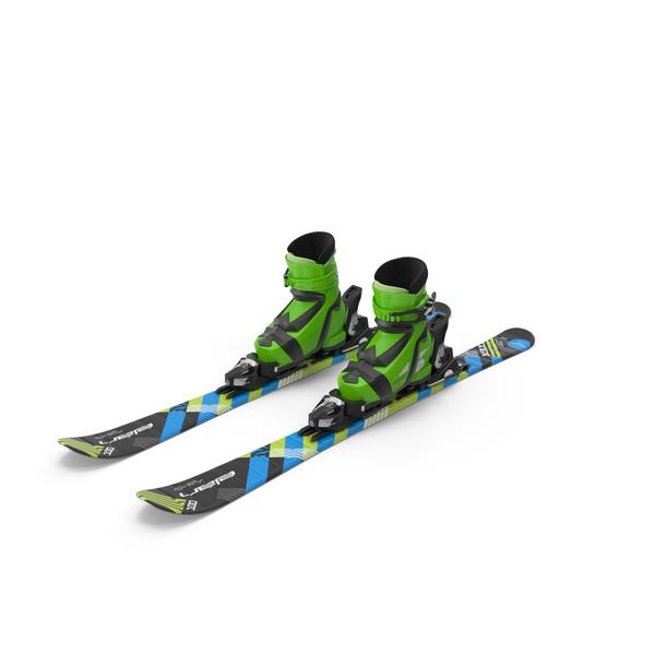 Elan Skis' Maxx Kid's Skis PNG & PSD Images