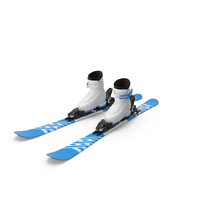 Alpine Boots & Ski Set PNG & PSD Images