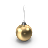 Christmas Gold Ball PNG & PSD Images