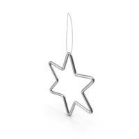 Silver Star Ornament PNG & PSD Images