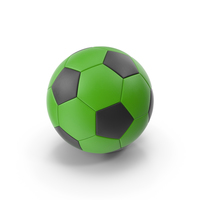 Green and Black Soccer Ball PNG & PSD Images