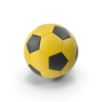 Soccer Ball Yellow and Black PNG & PSD Images