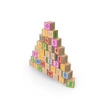 Alphabet Block Pyramid PNG & PSD Images