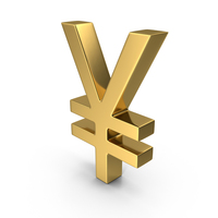 Japanese Yen Gold PNG & PSD Images