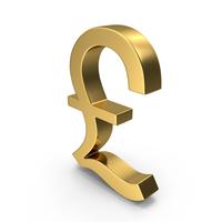 Gold Pound Symbol PNG & PSD Images