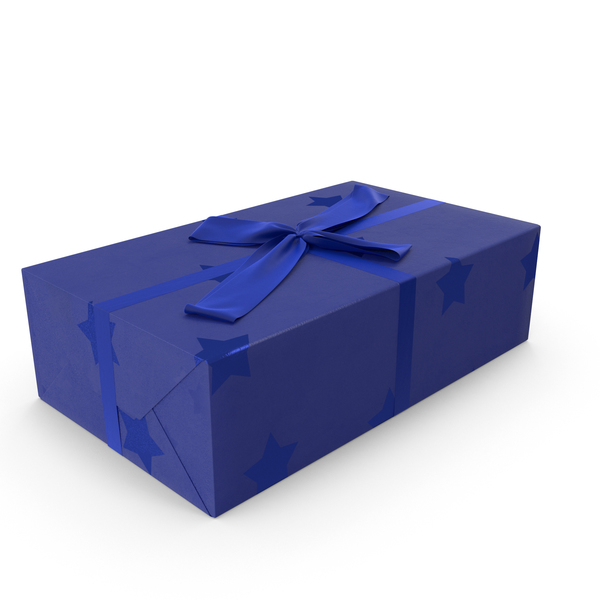 Gift Blue PNG & PSD Images