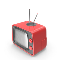 Red Cartoon Television PNG & PSD Images