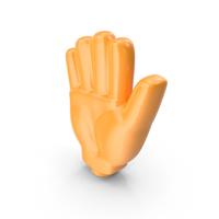 Orange Cartoon Hand PNG & PSD Images