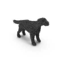 Wire Sculpture Dog PNG & PSD Images