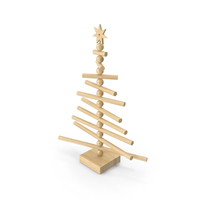 Wooden Christmas Tree PNG & PSD Images