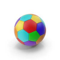 Multicolor Soccer Ball PNG & PSD Images