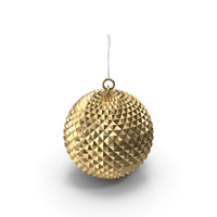 Gold Ball Christmas Ornament PNG & PSD Images
