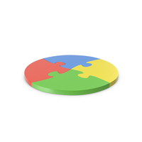 Jigsaw Puzzle Circle PNG & PSD Images
