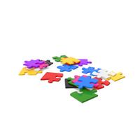 Colorful Puzzle Pieces PNG & PSD Images
