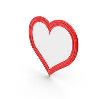 Heart Shape Picture Frame PNG & PSD Images