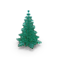 Stylized Snowflake Glass Tree PNG & PSD Images