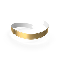 Banner Gold White PNG & PSD Images