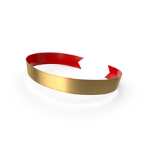 Banner Red Gold PNG & PSD Images