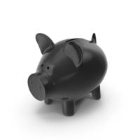 Piggy Bank Black PNG & PSD Images