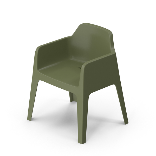 Pedrali Plus Green Chair PNG & PSD Images