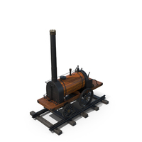 The First Russian Steam Locomotive by Yefim And Miron Cherepanov PNG & PSD Images