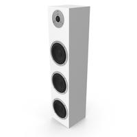 White Floor Speaker PNG & PSD Images