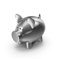 Piggy Bank Silver PNG & PSD Images