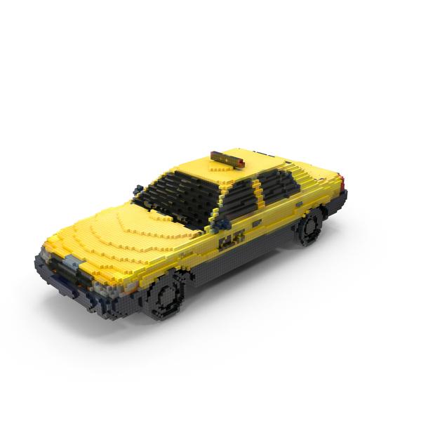 Pixel Taxi PNG & PSD Images