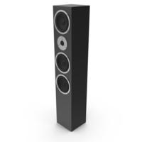 Floor Audio Speaker Black PNG & PSD Images