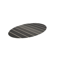 Striped Oval Dhurrie Rug PNG & PSD Images
