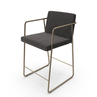 Rouka Upholstered Bar Stool PNG & PSD Images