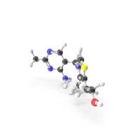 Thiamine (Vitamin B1) Molecular Model PNG & PSD Images