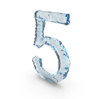 Icy Water Number 5 PNG & PSD Images