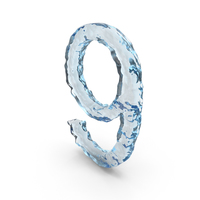 Icy Water Number 9 PNG & PSD Images