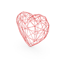 Heart Low Poly Wire PNG & PSD Images