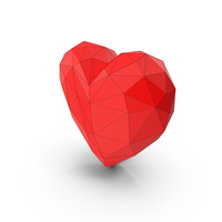 Heart Low Poly PNG & PSD Images