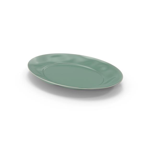 Marin Aqua Large Oval Serving Platter PNG & PSD Images