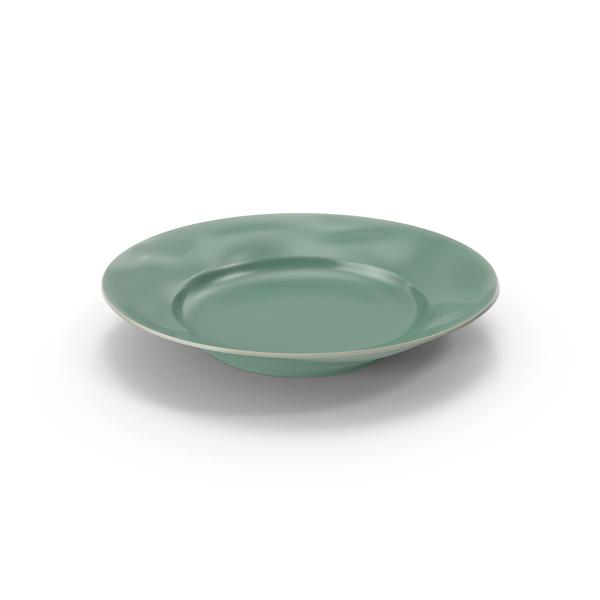 Marin Aqua Salad Plate PNG & PSD Images