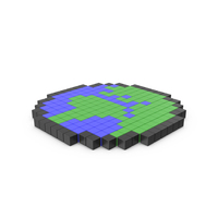 Pixelated Earth Icon PNG & PSD Images