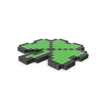 Pixelated Clover Icon PNG & PSD Images