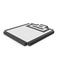Pixelated Clipboard Icon PNG & PSD Images