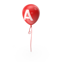 Letter A Balloon PNG & PSD Images