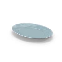 Marin Blue Large Oval Serving Platter PNG & PSD Images