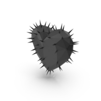 Love Heart Thorns Black PNG & PSD Images