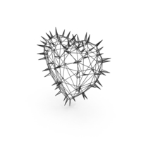 Heart Thorns Wire PNG & PSD Images