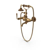 Antique Brass Faucet PNG & PSD Images