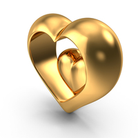 Heart Gold PNG & PSD Images