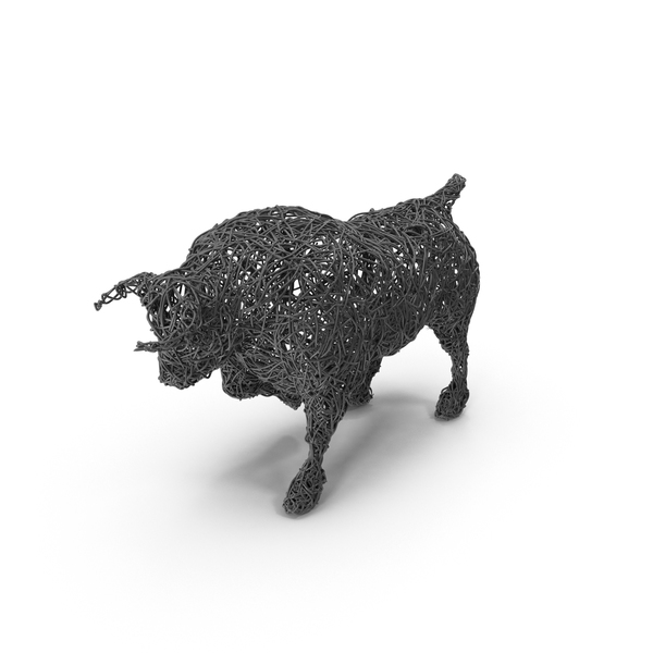 Wire Bull Sculpture PNG & PSD Images