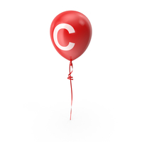 Letter C Balloon PNG & PSD Images